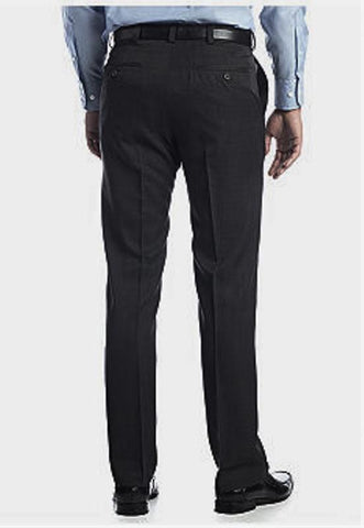 Haggar Textured Stria Men's Black No Iron Dress Pants Size 38W x 30L
