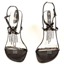 Manichi Mani Alysha Women's Rhinestones Black Dress Sandals SZ 10