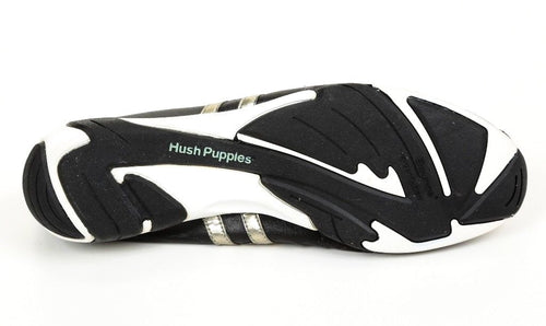 Hush Puppies Women's Black Gold Leather Sneakers