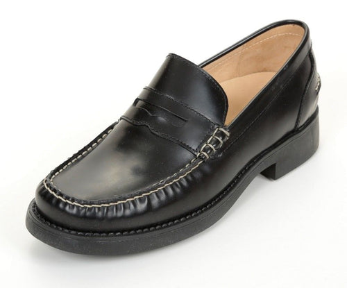 Naturino 4628 Boys Premium Black Leather Loafer School Shoes