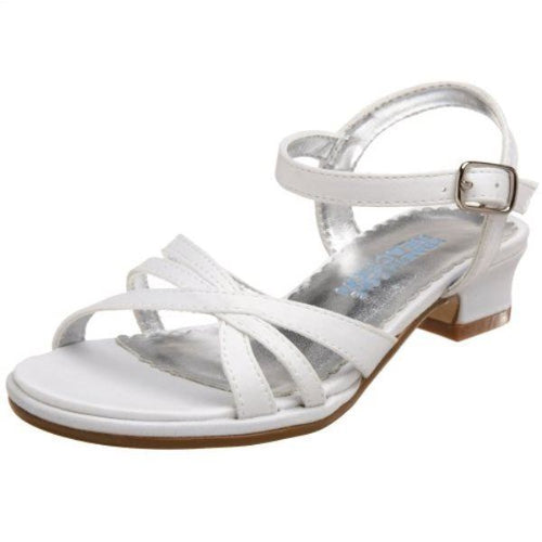 Kenneth Cole Bead BW the Lines Girls White Sandals SZ 13.5 (Little Kid)