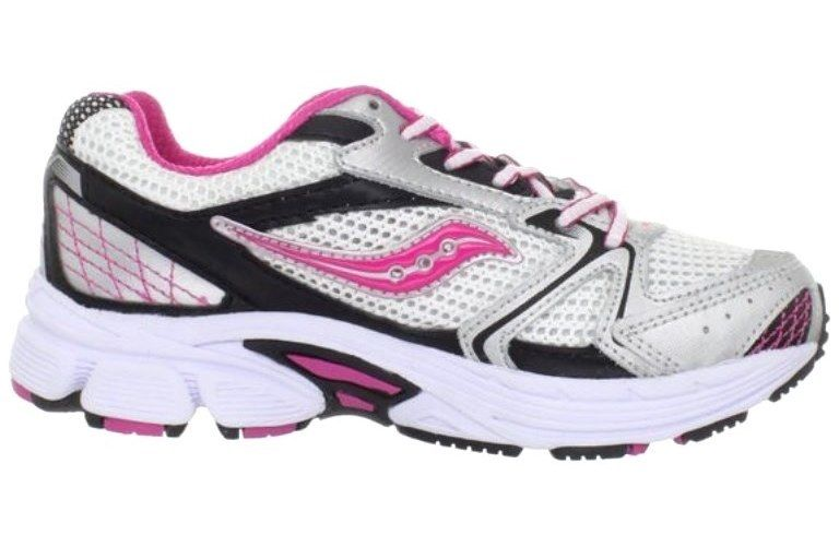 Saucony Grid Cohesion Girls Pink Leather Sneakers