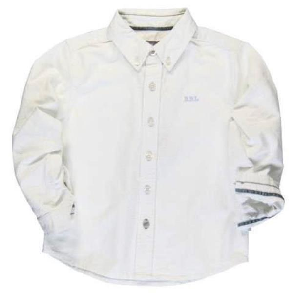 Boboli Boys White Cotton Oxford Shirt