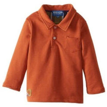 Andy & Evan Boys Infant Olavo Orange Polo Shirt
