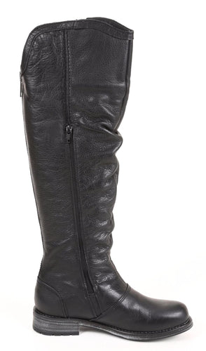 Bulle Hiver Black Leather Waterproof Rider Boots