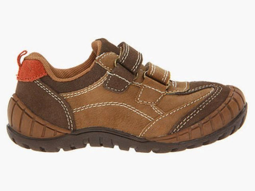 Jumping Jacks Mack Premium Boys Brown Leather Shoes Size 8.5-9 M