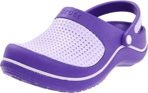 Crocs CrosMesh Purple Lavender Clogs SZ 1 (Big Kid)