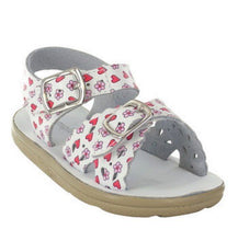 Jumping Jacks Sunrise Girls White Red Pink Leather Sandals