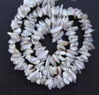 Natural Freshwater 10 mm Beads Keshi Pearls 16