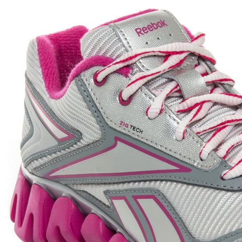 Reebok Zigactivate Girls Grey Pink Running Shoes