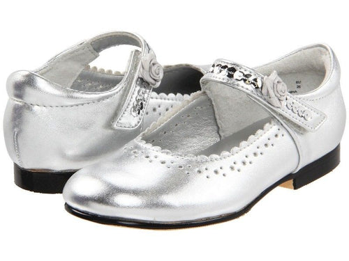 Jumping Jacks Annabelle Girls Silver Dress Shoes Size 9 M