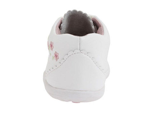 Stride Rite Emilia Girls White Leather Booties Walking Shoes Size 5.5 Wide
