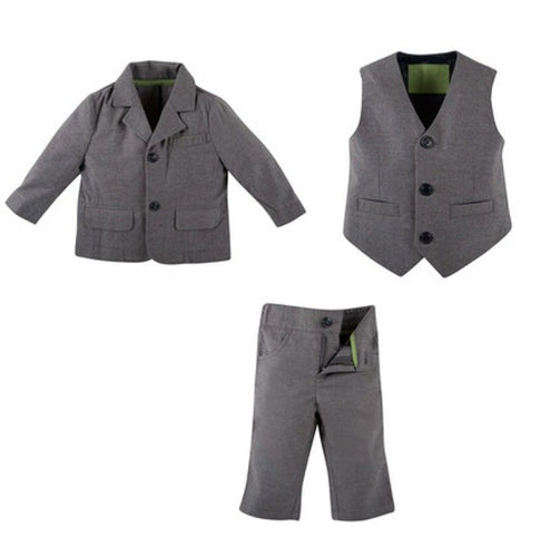Andy & Evan Boys Gray King Howell Suit Set