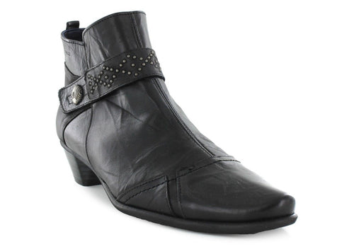 Dorking Edurne Women's Black Leather Ankle Boots SZ 10