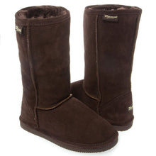 Michelle Eva Women's Brown Suede & Sheepskin Winter Boots SZ 7
