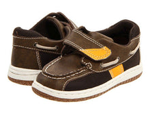 Jumping Jacks Sailor Boys Brown Leather Shoes 8 M