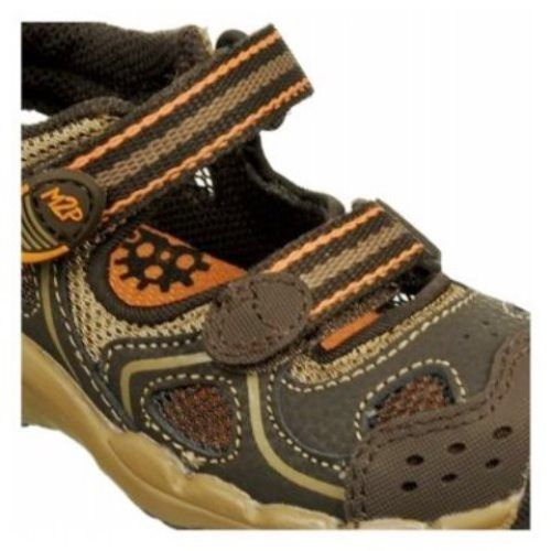 Stride Rite Baby Perry Boys Infant Brown Leather Sandals Shoes