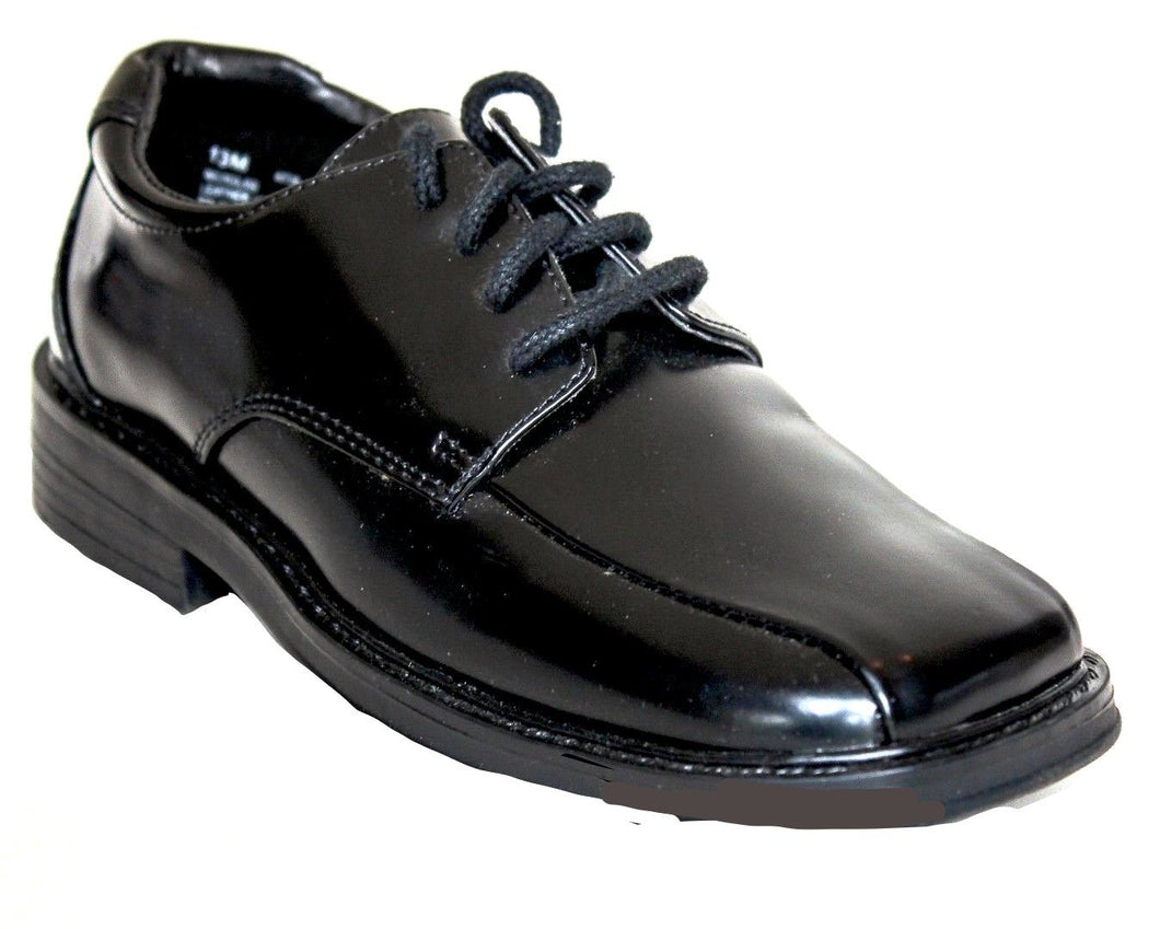Scott David Nicholas Boys Black Leather Dress Shoes Size 13 (Little Kids)