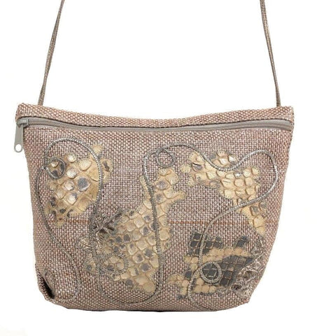 Carlos Falchi Beige Cross-body Handbag