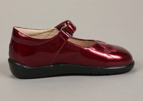 Mobility Lil-Hana Ruby Red Leather Mary Jane Shoes