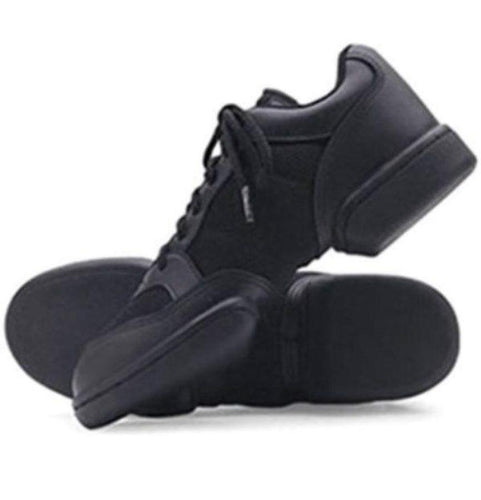 Leo's Dance N Jam Women's Black Leather Hip Hop Dance Shoes