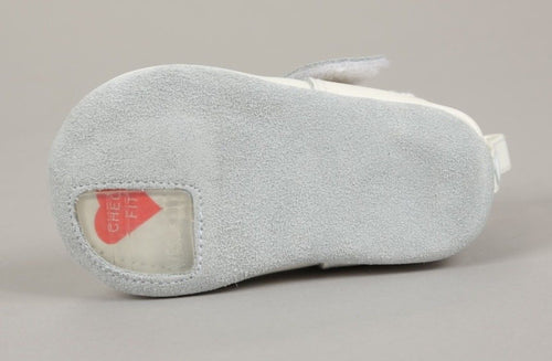 Preschoolians Cover My Foot White Leather Crib Shoes Size I.5 Mo. 17 EU (Intants)
