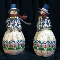 Jim Shore Heartwood Creek - Winters Spirit Snowman/pipe by Enesco