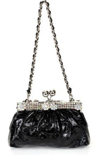 Black Rhinestone Evening Clutch Handbag