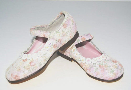 Jumping Jacks Andrea Girls Pink Leather Dress Shoes Size 9.5
