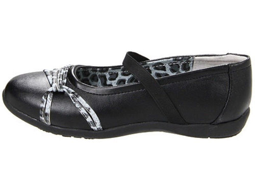 Balleto (by Jumping Jacks) Amanda Girls Black Leopard Shoes