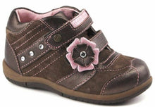 Stride Rite McKalya Girls Brown w Pink Flower Leather Shoes SZ 6.5