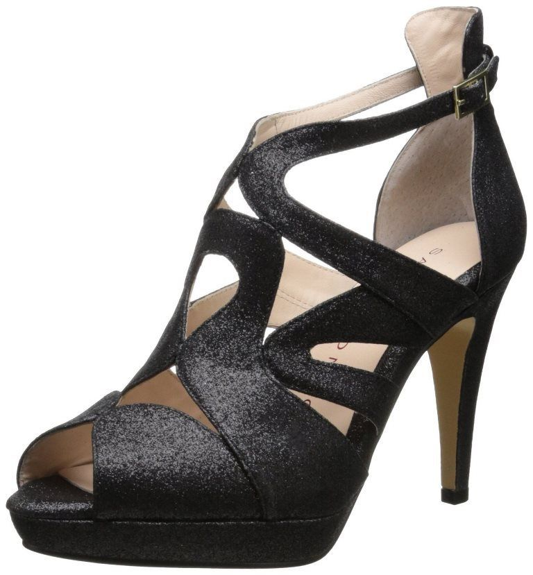 Sacha London Jill Women's Black Diamond Open  Platform Pumps