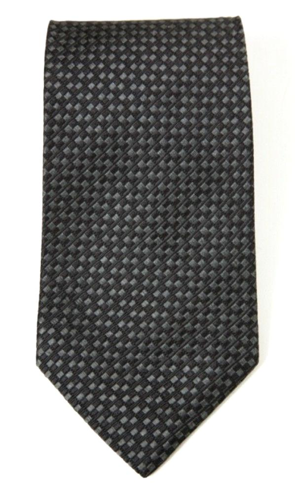 Tommy Hilfiger Men's 100% Silk Solid Grey Necktie