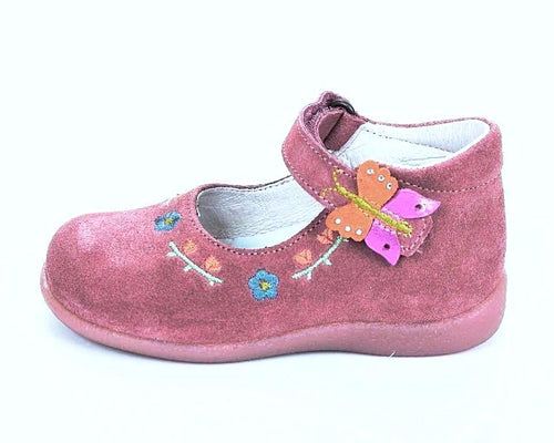 Naturino 980 Girls Pink Suede Mary Jane Shoes Size 6 US (Infants)
