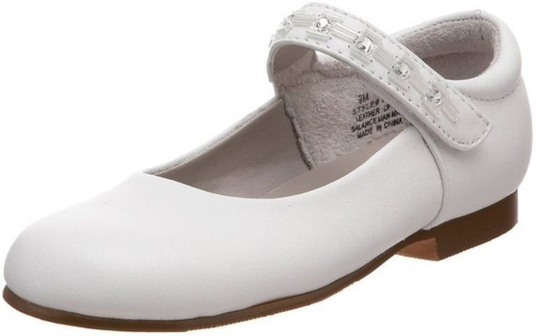 Jumping Jacks Julie Girl White Leather Dress Shoes Size 11 Wide