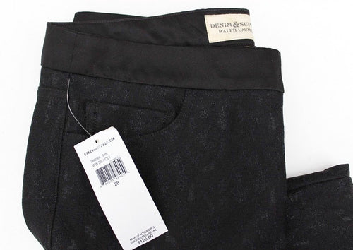 Denim and Supply Ralph Lauren  Women's Black  Lace Skinny Pants
