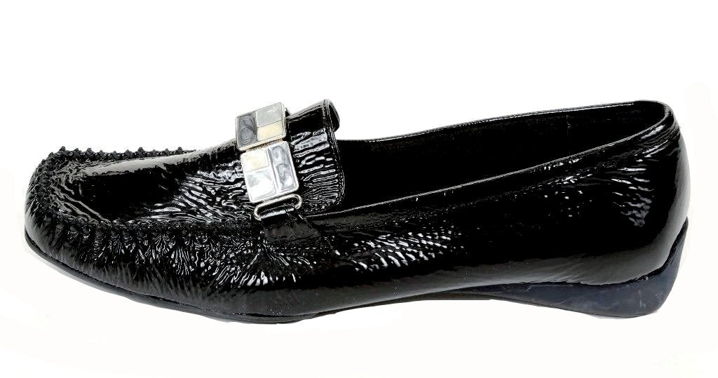 Bella Vita Women's Black Leather Loafers SZ 9