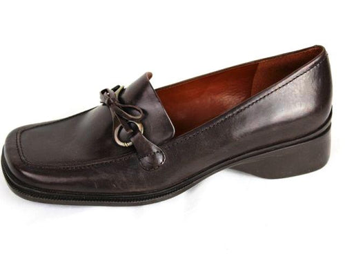 Enzo Angiolini Women's Brown Leather Loafer Size 8.5