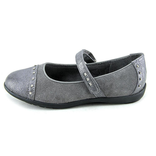 Balleto (by Jumping Jacks) Roxann Girls Pewter Studded Mary Jane Shoes