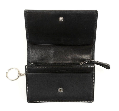 Coach Women's Black Leather Wallet