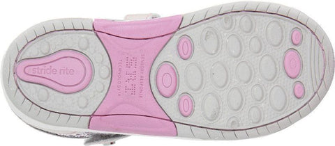 Stride Rite Leighton Girls Bone Pink & Sequins Mary Jane Athletic Shoes
