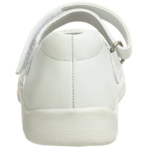 Jumping Jacks Dance Girls White Leather Mary Jane Shoes SZ 7.5 Wide
