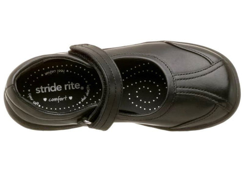 Stride Rite Jillian Girls Black Leather Mary Jane School Shoes Size 9 Narrow