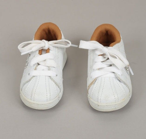Phat Farm White Beige Leather Lace Sneakers Size 8 (Toddler)