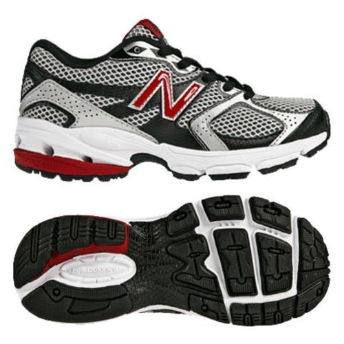 New Balance KJ633 Boys Silver Red Running Shoes SZ 12.5 XW (Little Kid)