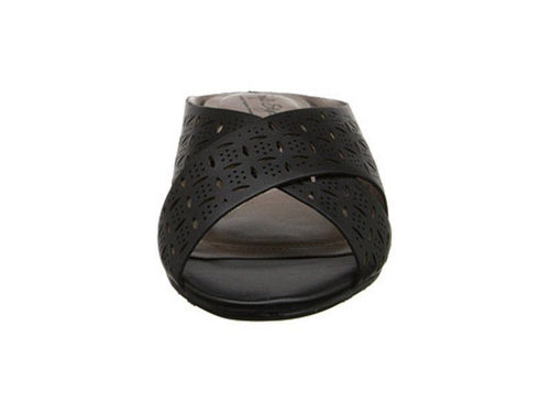 Hush Puppies Elida Women's Black Slides Wedge Sandals Size 7