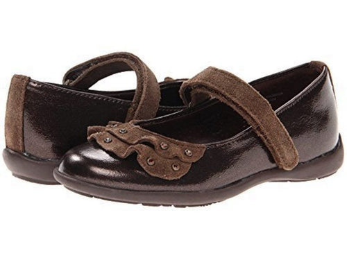 Balleto (by Jumping Jacks) Veronica Girls Brown Dress Shoes