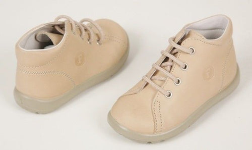 Naturino 680 Vitello Boy's Beige Leather Walker Shoes SZ 6 (22 EU Infants)