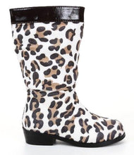 L'Amour Girls Designer Leopard  Boots SZ 8 (Little Kid)