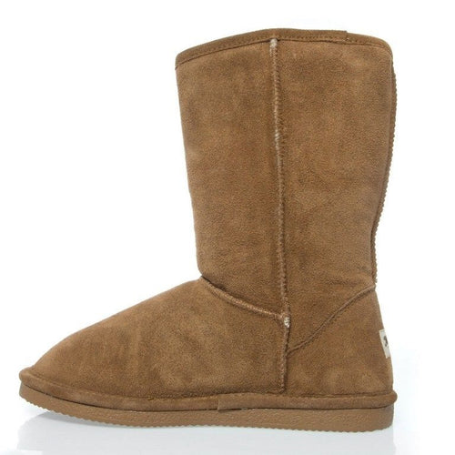 Michelle Eva Women's Tan Suede & Sheepskin Winter Boots